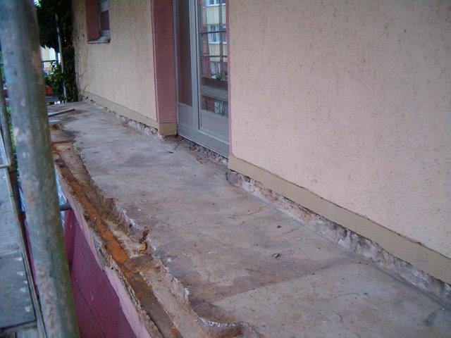 Balkonabdichtung Vorbereitung