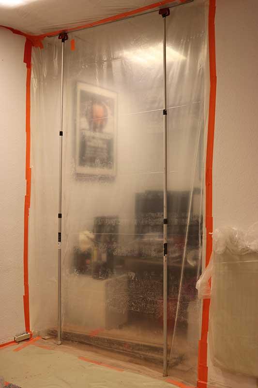 Innensanierung im laufenden Bürobetrieb durch Staubschutzwände