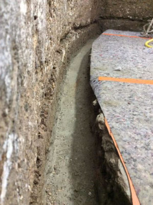 Sanierung Bodenanschluss