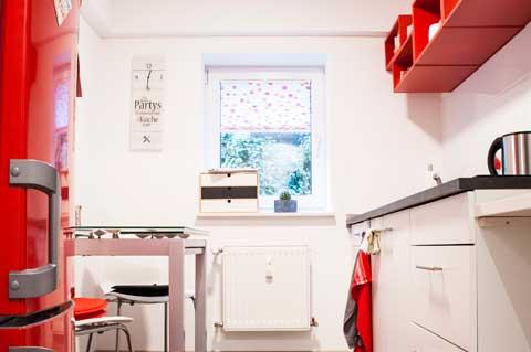 Souterrainwohnung Küchenzeile