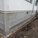 Sanierte Fassade mit neuer Putzschicht