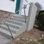 Sanierte Außentreppe