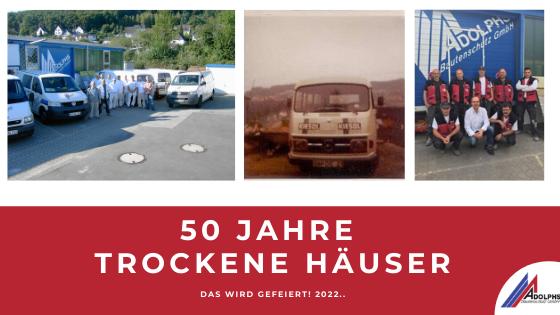 50 Jahre Adolphs Bautenschutz Firmenjubiläum