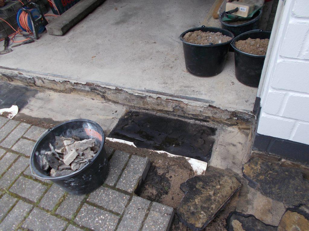 Sanierung Garagenschwelle
