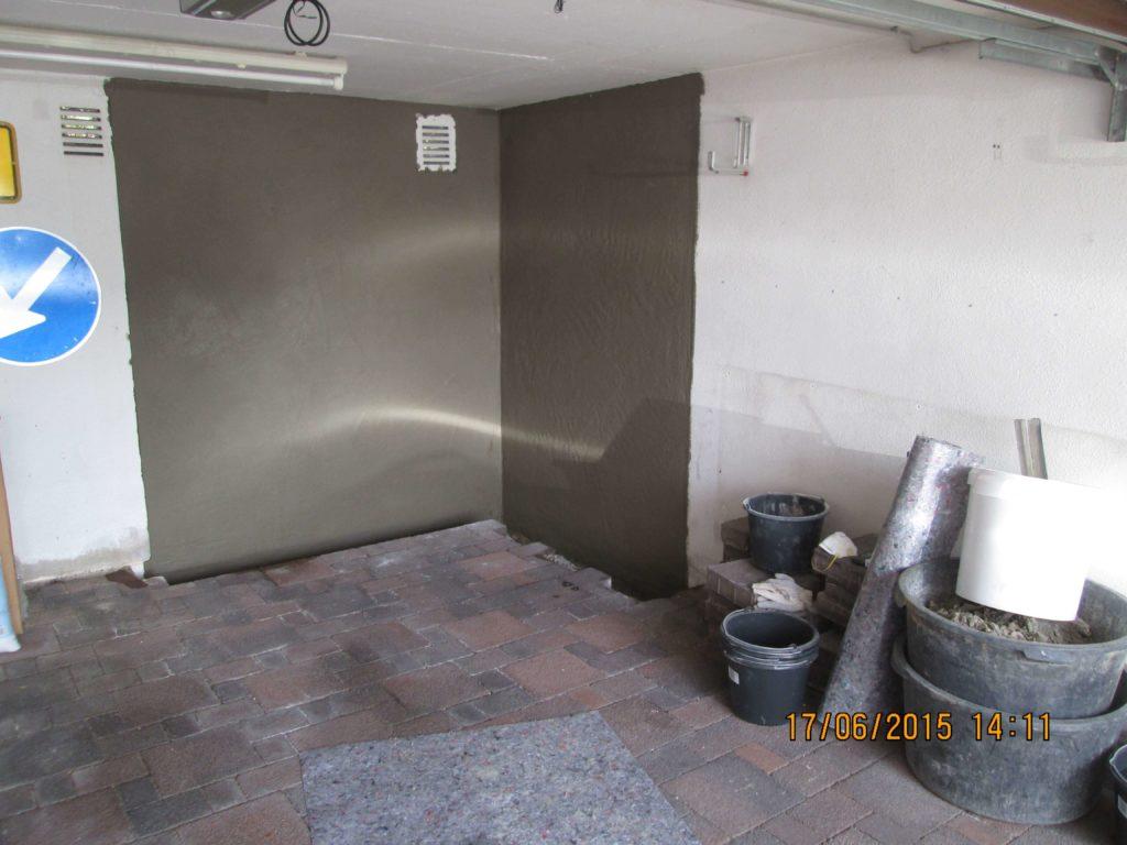 Sanierung Garagenwand