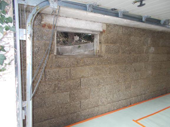 Sanierungs Garagenwand