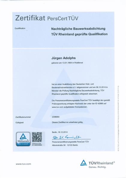 ADOLPHS-TUV-Zert-Nachtraegliche-Bauwerksabdichtung-2014-1
